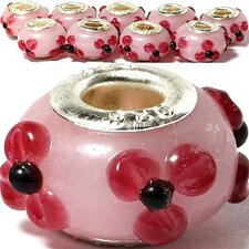 Flower Accents Glass Bead (Set of 3)