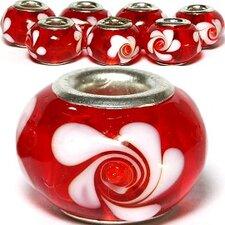 Flowers Swirl Glass Bead (Set of 3)