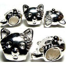 Cat Head Bead Charm