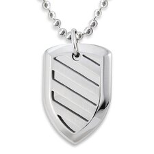 Stainless Steel Shield Cut-out Necklace