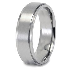 <strong>West Coast Jewelry</strong> Titanium Brushed and Polished Ring