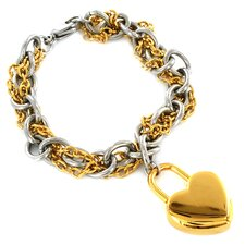 Heart Charm Double Chain Bracelet