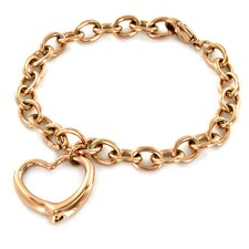 <strong>West Coast Jewelry</strong> Heart Dangle Chain Bracelet
