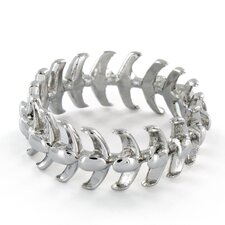 <strong>West Coast Jewelry</strong> Stainless Steel Vertebrae Loop Ring