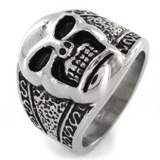 Stainless Steel Cast Skull Ring