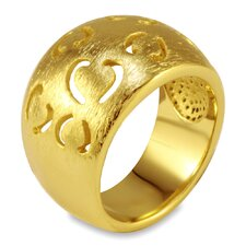 <strong>West Coast Jewelry</strong> Goldplated Stainless Steel Cut-out Heart Ring