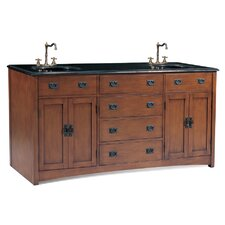 "72"" Ithaca Double Sink Chest Vanity Set"