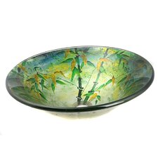 Bamboo Leaves Vessel Bathroom Sink