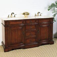"Hatherleigh 61"" Double Chest Bathroom Vanity Set"