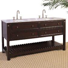 "Hatherleigh 68"" Double Chest Bathroom Vanity Set"