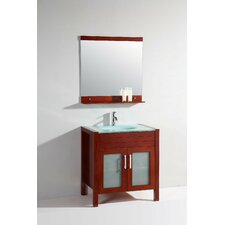 "<strong>Legion Furniture</strong> 32"" Single Bathroom Vanity Set with Mirror"