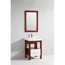 "<strong>Legion Furniture</strong> 24"" Single Bathroom Vanity Set with Mirror"