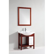 "<strong>Legion Furniture</strong> 30"" Single Bathroom Vanity Set with Mirror"