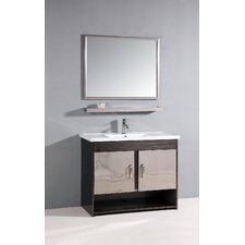 "39.5"" Single Bathroom Vanity Set with Mirror"