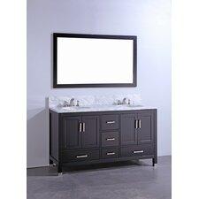 "60"" Bathroom Vanity Set with Mirror"