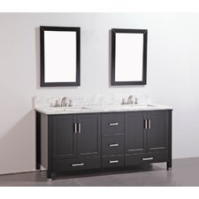 "72"" Solid Wood Bathroom Vanity Set"