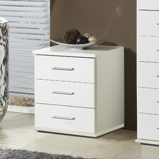 Venice 3 Drawer Bedside Table