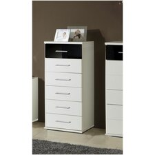 Milano Narrow Chest of 6 Drawers