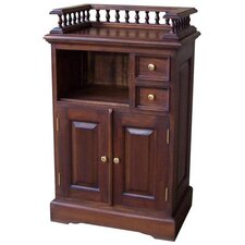 Mahogany Telephone Console Table with Gallery