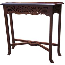 Mahogany Fretwork Carved Console Table