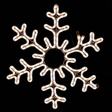 Snowflake Holiday Outdoor Lighting Motif Rope Light