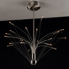 Quaffle 21 Light Semi Flush Light