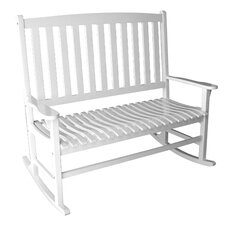 <strong>Jordan Manufacturing</strong> Double Rocker Wood Garden Bench
