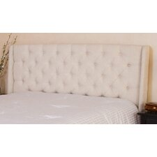 Wicklow Wingback Queen/Full Tufted Fabric Headboard