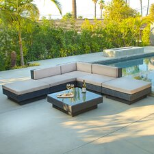 Mallorca Outdoor Six Piece PE Wicker Sofa Set