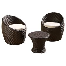 <strong>Home Loft Concept</strong> La Jolla 3 Piece Chat Set