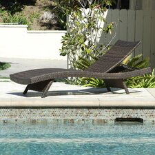 Salvador Outdoor Adjustable Wicker Lounge