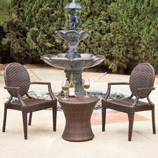 Giesel PE Wicker Outdoor Chat Set of 3