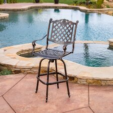 Piedmont Cast Aluminum Copper Outdoor Bar Stool