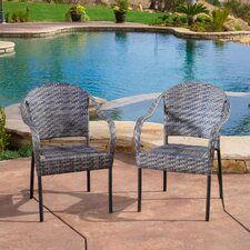 Sunset Outdoor Polyethylene Wicker Chair - Set of 2