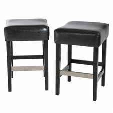 <strong>Home Loft Concept</strong> Exclusives Brinkley Bar Stool with Cusion (Set of 2)