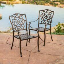 Pamplona Cast Aluminum Outdoor Dining Chair (Set of 2) (Set of 2)