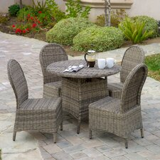 Tarah 5 Piece Wicker Dining Set