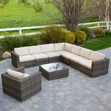 Moroni 9 Piece Deep Seating Group with Cushions