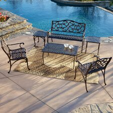 Alessandria 6 Piece Bench Seating Group
