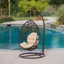Songbird Tear Drop Swinging Deep Seating Chair with Cushions