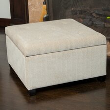 Stephon Wheat Tufted Fabric Storage Ottoman