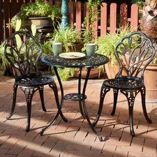 Bradley 3 Piece Bistro Set