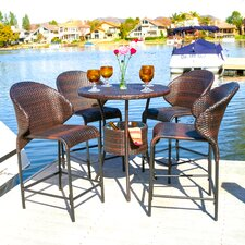 Stefan Wicker Outdoor Bistro Bar Set with Ice Pail