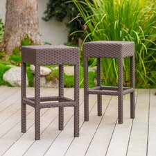 Vollmer Outdoor Backless Bar Stool (Set of 2)
