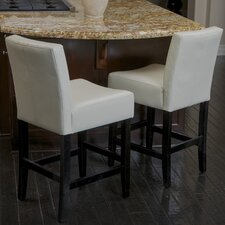 Develin Bonded Leather Counterstools (Set of 2)