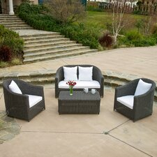 Galapagos 4 Piece Deep Seating Group with Cushion