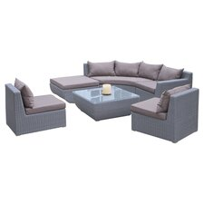 Trabuco 7 Piece Deep Seating Group in Grey with Cushions