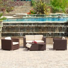 Asante 4pc PE Wicker Outdoor Sofa Set