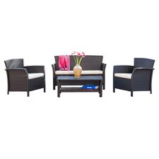 Trieste 4 Piece Seating Group in Brown with Cushions