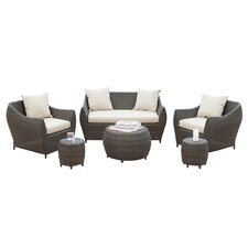 Beaufort Outdoor 6 Piece Wicker Seating Group with Cushions